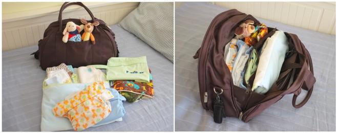 aqui está a minha mala pronta para a saída