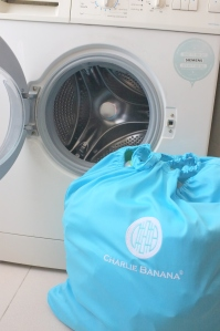 Saco pronto para colocar a lavar