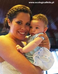 """A Vanessa e o """"nosso"""" bebé João :)"""